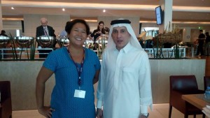 With His Excellency Mr. Akbar Al Baker (Qatar Airways Group Chief Executive)