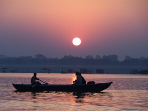 Sunrise over the River Ganges