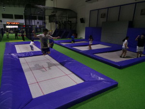 Olympic-sized trampoline